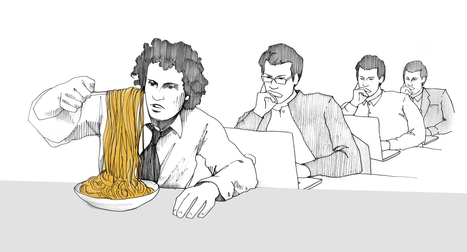 Von Spaghettisoßen und Bürogebäuden